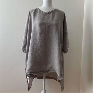 Eskandar linger back Linen Tunic